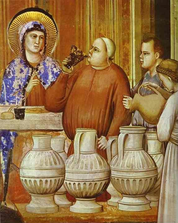 Giotto. The Wedding Feast at Cana. Detail.