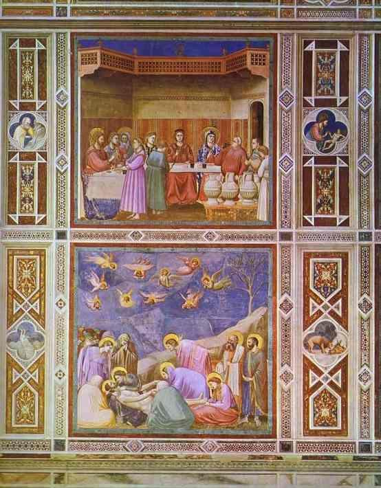 Giotto. The Wedding Feast at Cana and The Deposition of Christ.