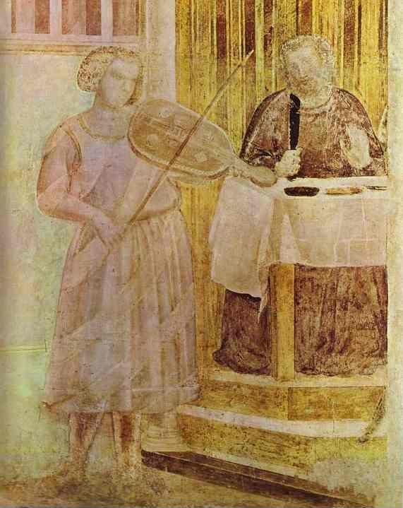 Giotto. The Feast of Herod. Detail.