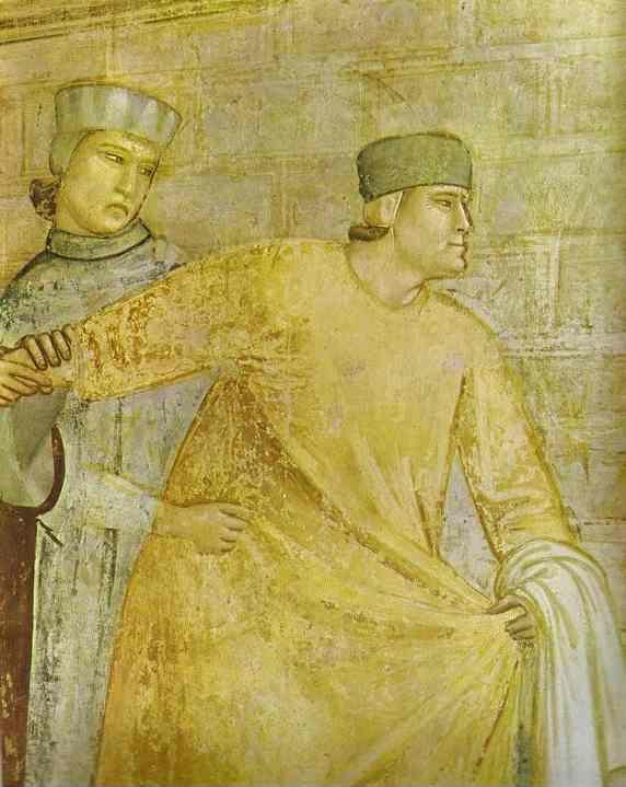 Giotto. The Renunciation of Worldly Goods. Detail.