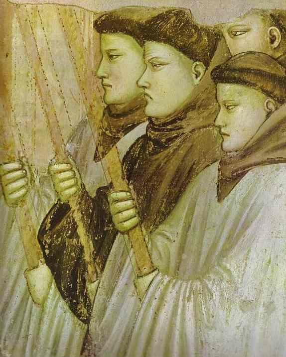 Giotto. Death of St. Francis and Inspection of Stigmata. Detail.