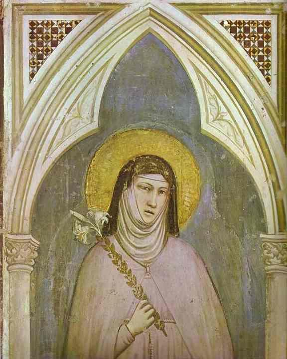 Giotto. St. Claire. Detail.