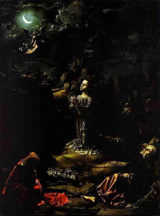 Jan Gossaert. The Agony in the Garden.