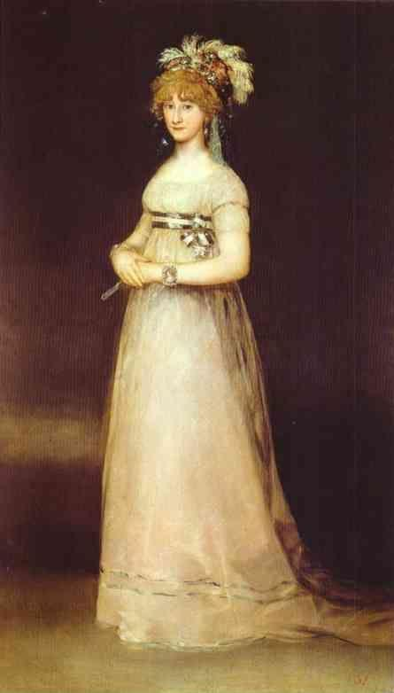 Francisco de Goya. Portrait of the Countess of Chinchón.