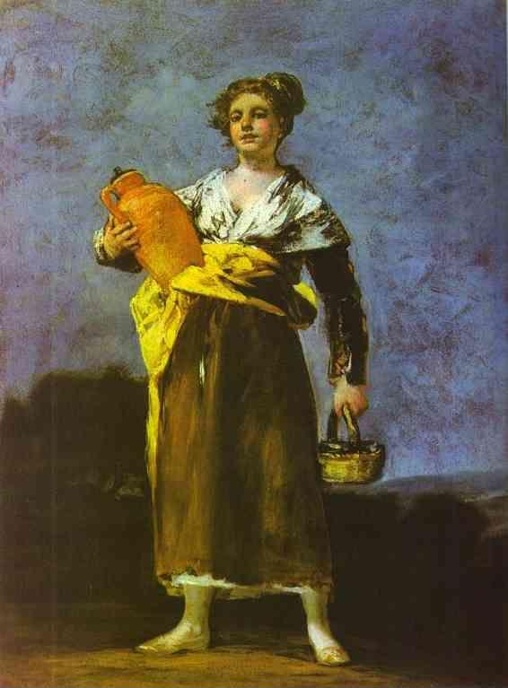 Francisco de Goya. Girl with a Jug (Aguadora).
