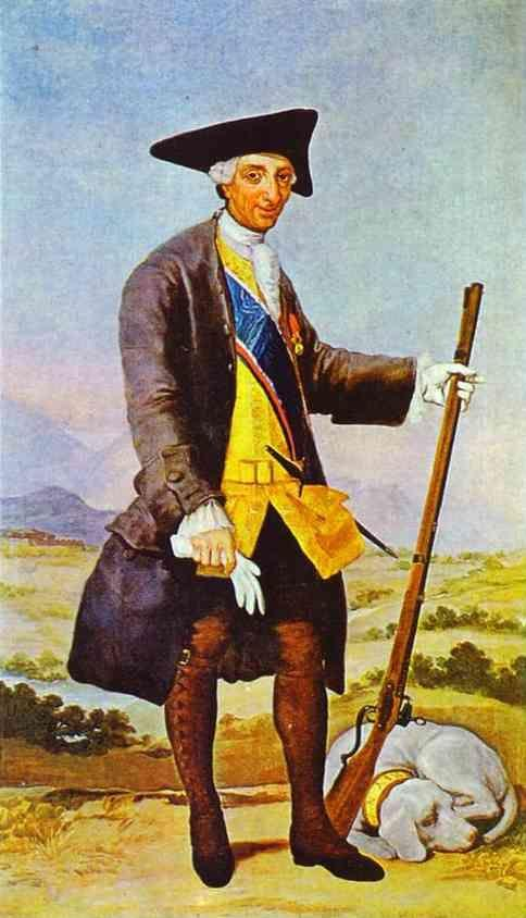 Francisco de Goya. Charles III in Hunting Costume.
