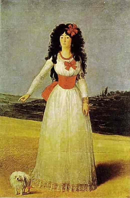 Francisco de Goya. Portrait of the Dutchess of Alba.