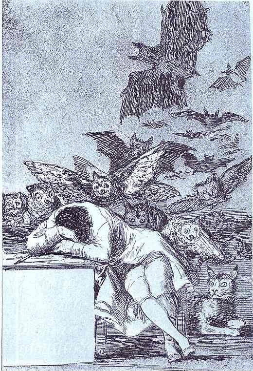 Francisco de Goya. The Sleep of Reason Produces Monsters. (El sueno de la razon produce monstruos).