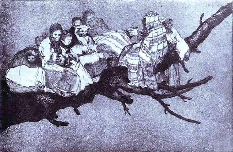 Francisco de Goya. Disparate 3: Disparate Riduculo (Ridiculous Foolishness).