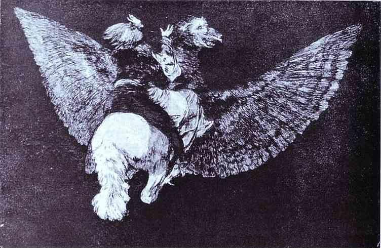 Francisco de Goya. Disparate Volante (Absurdity).
