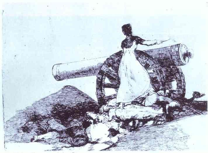 Francisco de Goya. Desastre de la Guerra (Disasters of War) 7; Que Valor!.
