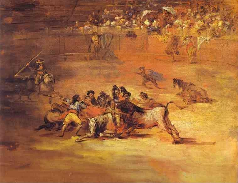 Francisco de Goya. Scene of Bullfight.