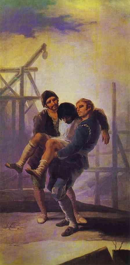 Francisco de Goya. The Injured Mason.