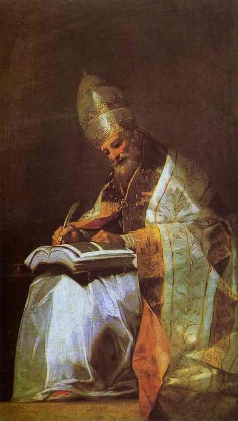 Francisco de Goya. St. Gregory.