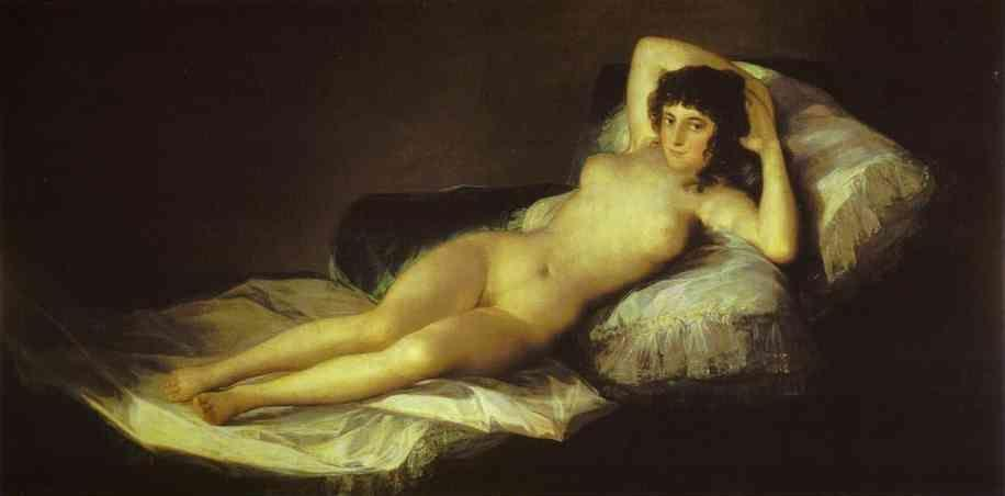 Francisco de Goya. The Nude Maja (La Maja Desnuda).