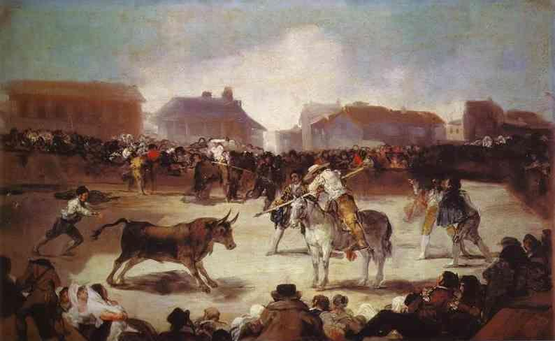 Francisco de Goya. A Village Bullfight.