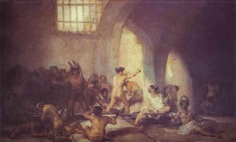 Francisco de Goya. The Madhouse.