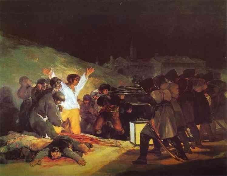 Francisco de Goya. The Third of May, 1808: The Execution of the Defenders of Madrid.