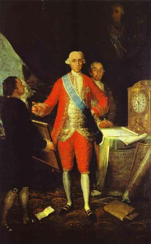 Francisco de Goya. The Count of Floridablanca and Goya.