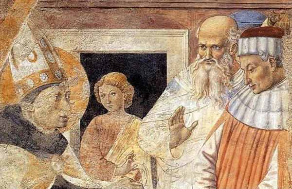 Benozzo Gozzoli. Conversion of the Heretic. Detail.