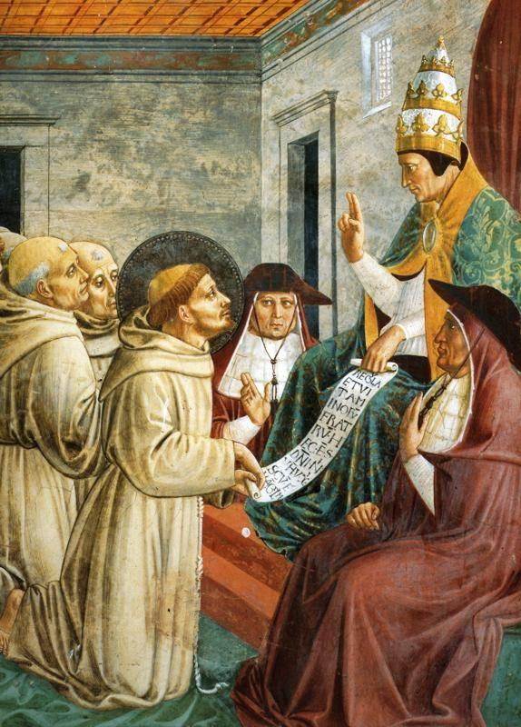 Benozzo Gozzoli. Dream of Innocent III and the Confirmation of the Rule.