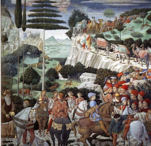 Benozzo Gozzoli. Procession of the Magus Caspar. Detail.