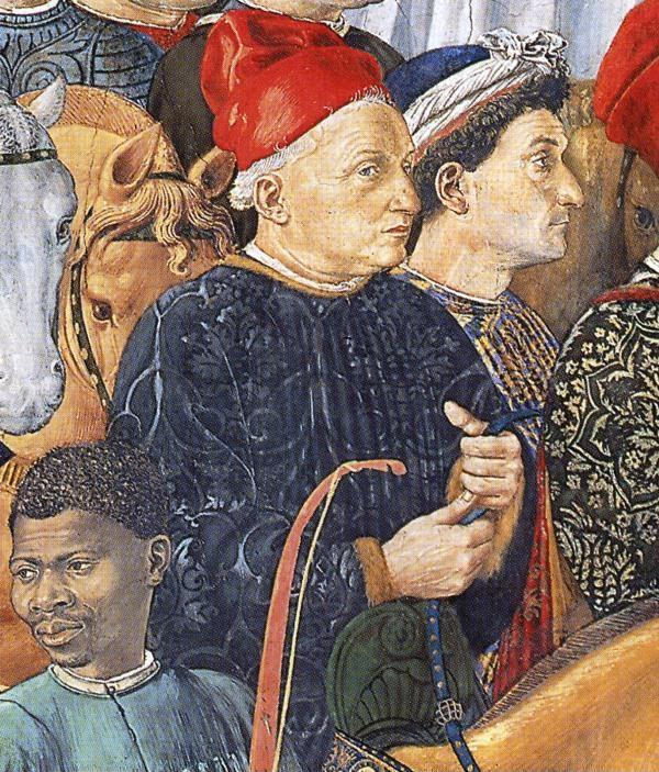 Benozzo Gozzoli. Procession of the Magus Balthazar. Detail.