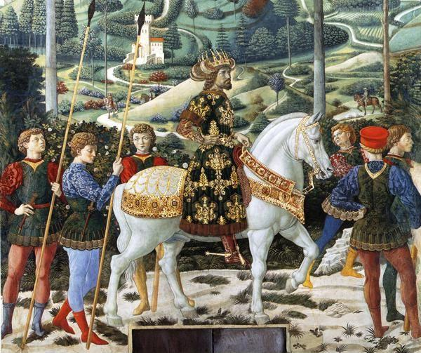 Benozzo Gozzoli. Procession of the Magus Melchior. Detail.