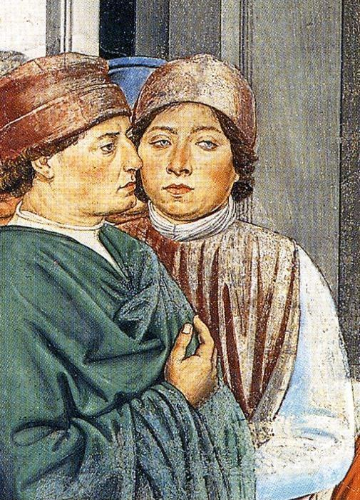 Benozzo Gozzoli. St. Augustine at the University of Carthage. Detail.