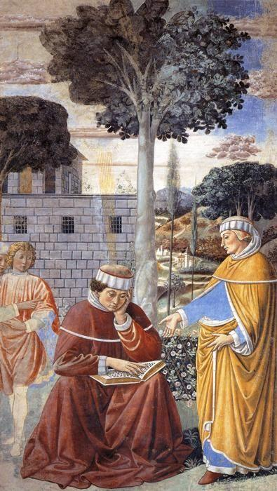 Benozzo Gozzoli. St. Augustine Reading the Epistle of St. Paul.
