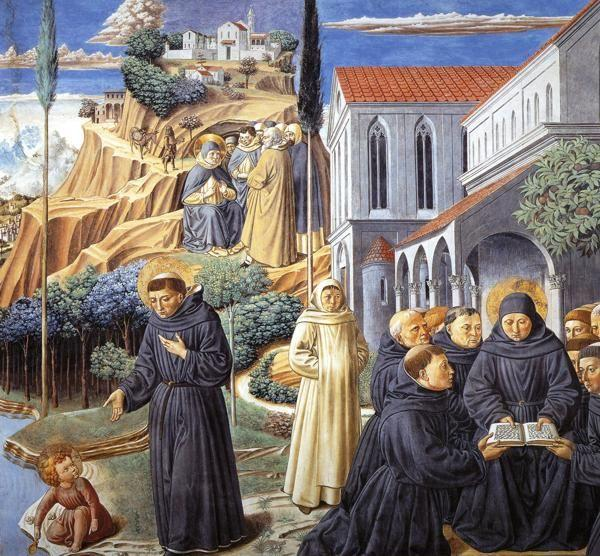 Benozzo Gozzoli. The Parable of the Holy Trinity and the Visit to the Monks of Mount Pisano.
