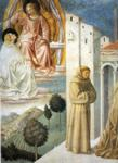 Benozzo Gozzoli. Vision of St. Dominic and Meeting of St. Francis and St. Dominic. Detail.