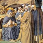 Benozzo Gozzoli. Visit to the Monks of Mount Pisano. Detail.