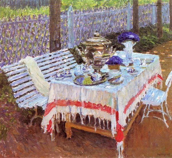 Igor Grabar. Morning Tea.