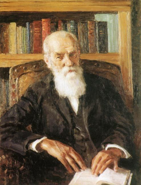 Igor Grabar. Portrait of the Academician Alexei Nikolaevish Bach.