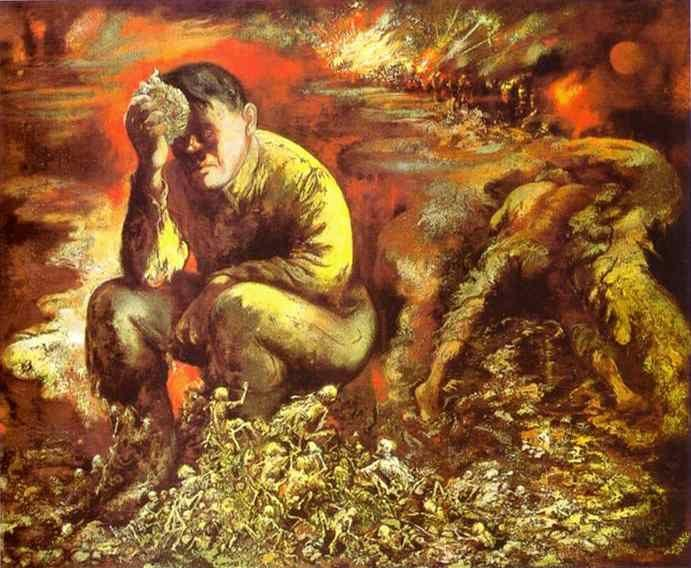George Grosz. Cain, or, Hitler in Hell.