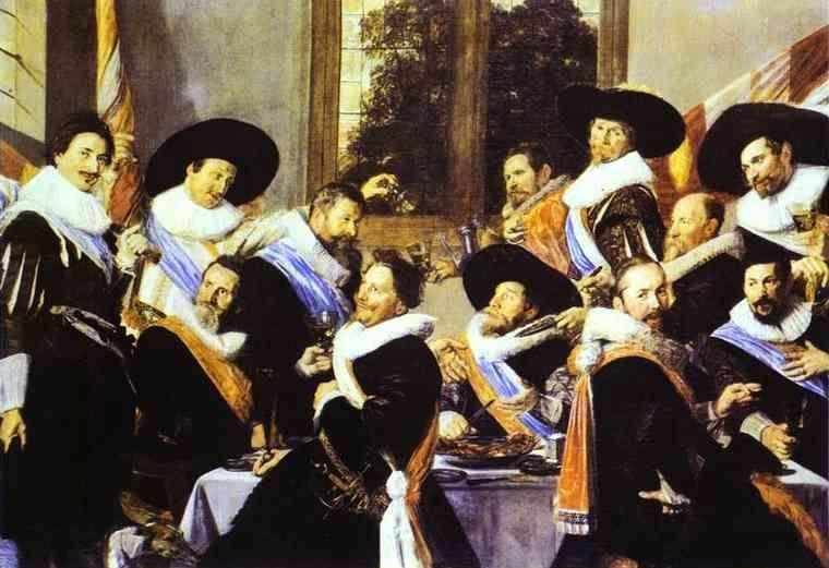 Frans Hals. Banquet of the Officers of the Civic Guard of St. Andrew.