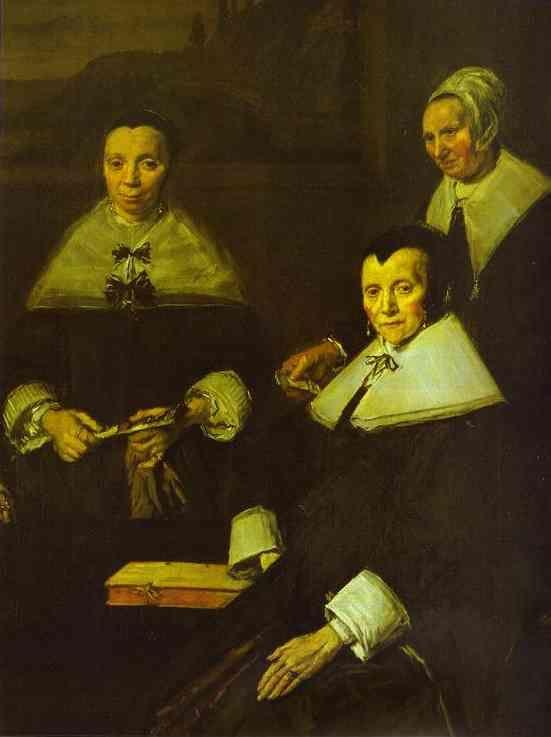 Frans Hals. The Lady-Governors of the Old Men's Almshouse at Haarlem. Detail.