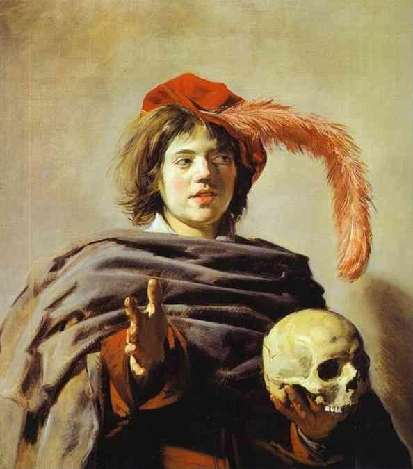 Frans Hals. Young Man with a Skull (Vanitas).