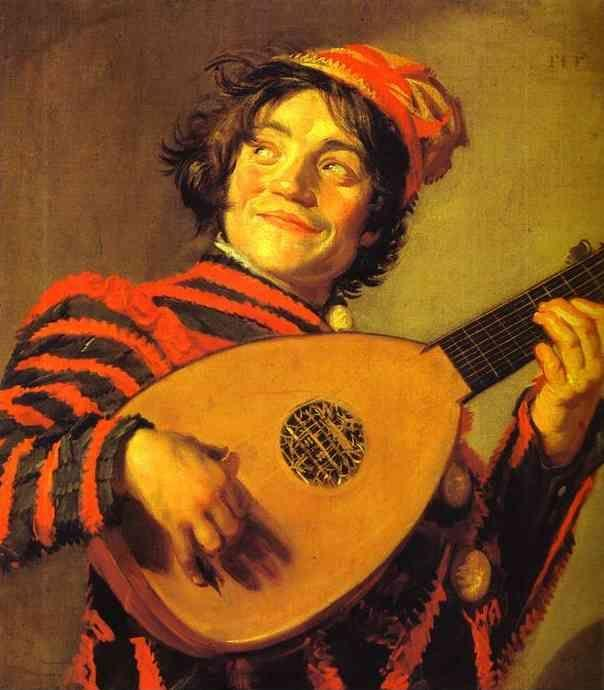 Frans Hals. Jester with a Lute.