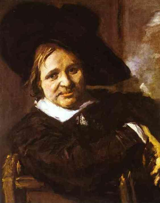 Frans Hals. Portrait of a Man in a Traveler's Hat.