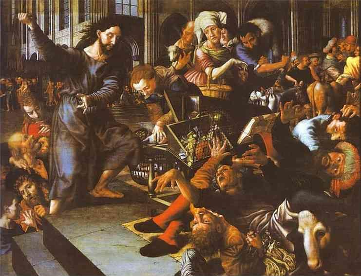 Jan Sanders van Hemessen. Christ Driving Merchants from the Temple.