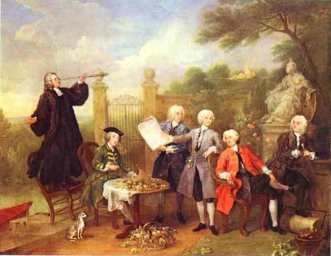 William Hogarth. Lord Hervey and His Friends.