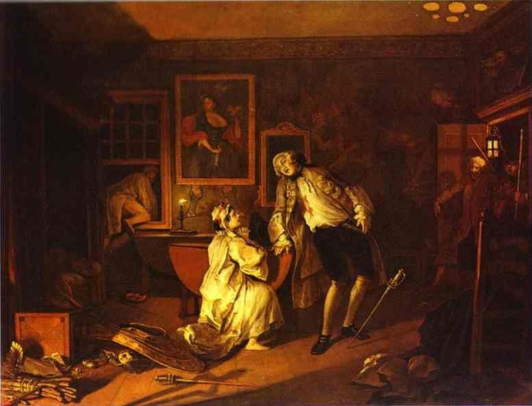 William Hogarth. The Death of the Earl.