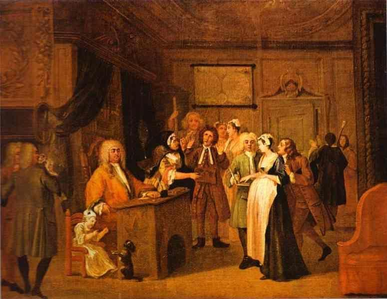 William Hogarth. The Denunciation.