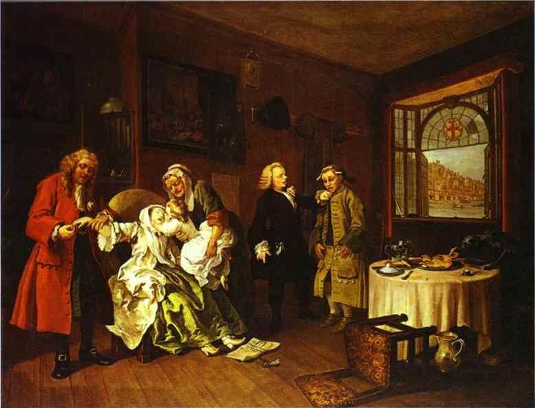 William Hogarth. The Suicide of the Countess.