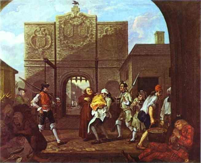 William Hogarth. The Roast Beef of Old England or Calais Gate.