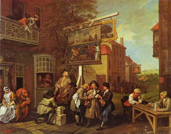 William Hogarth. Canvassing for Votes.