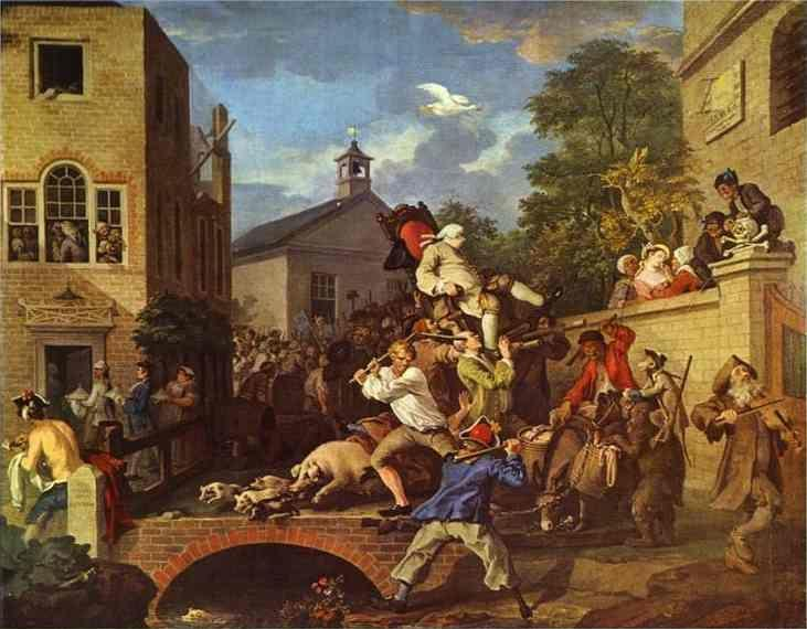 William Hogarth. Chairing the Member.