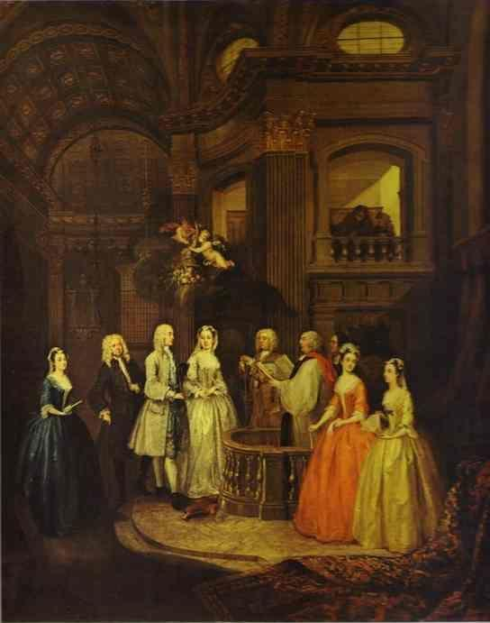 William Hogarth. The Wedding of Stephen Bechingham and Mary Cox.